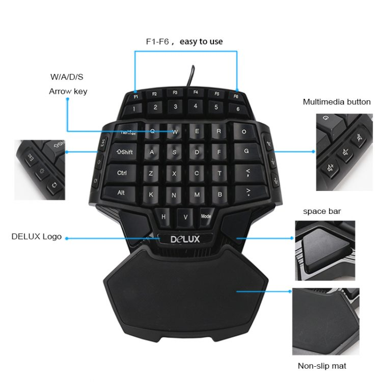 Delux Gamer Gaming T9 Keyboard and Mouse Combo Set